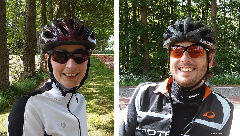 Zonnebril voor vrouwen die wielrennen