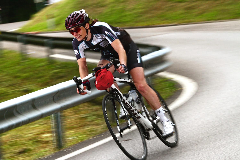 Afdalen tijdens Sportful Granfondo