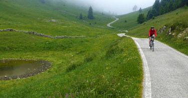wielrennen op Monte Grappa