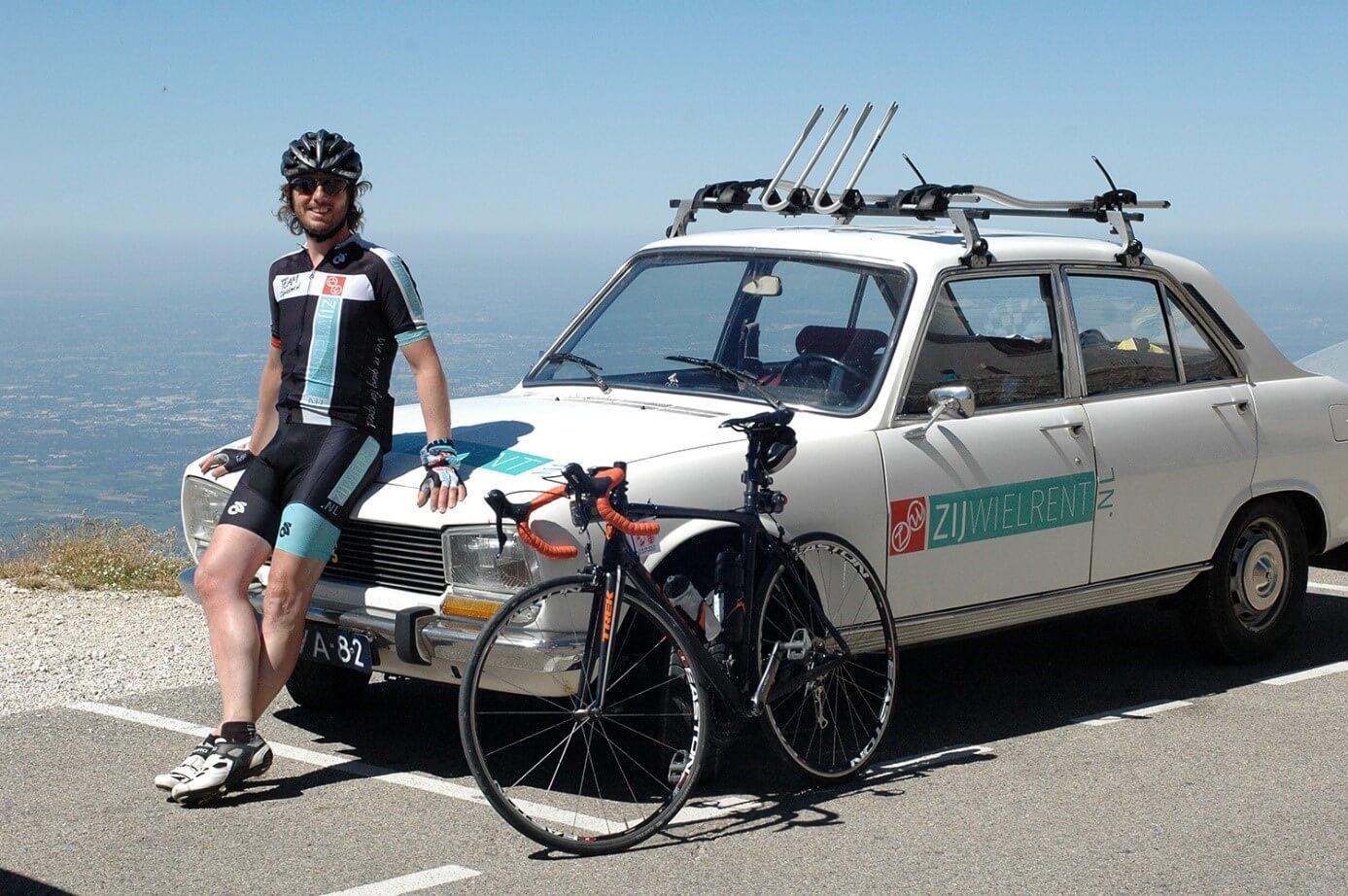 Peugeot 405 op Mont Ventoux