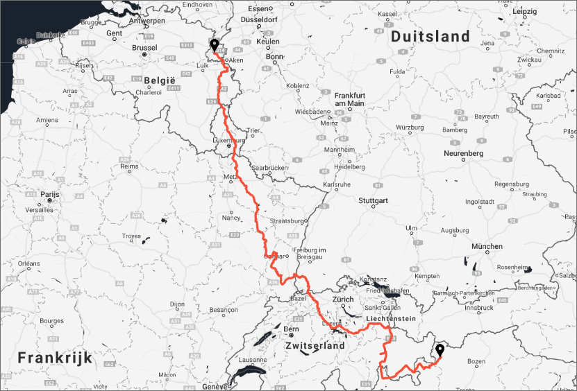 The Ride NL etappes