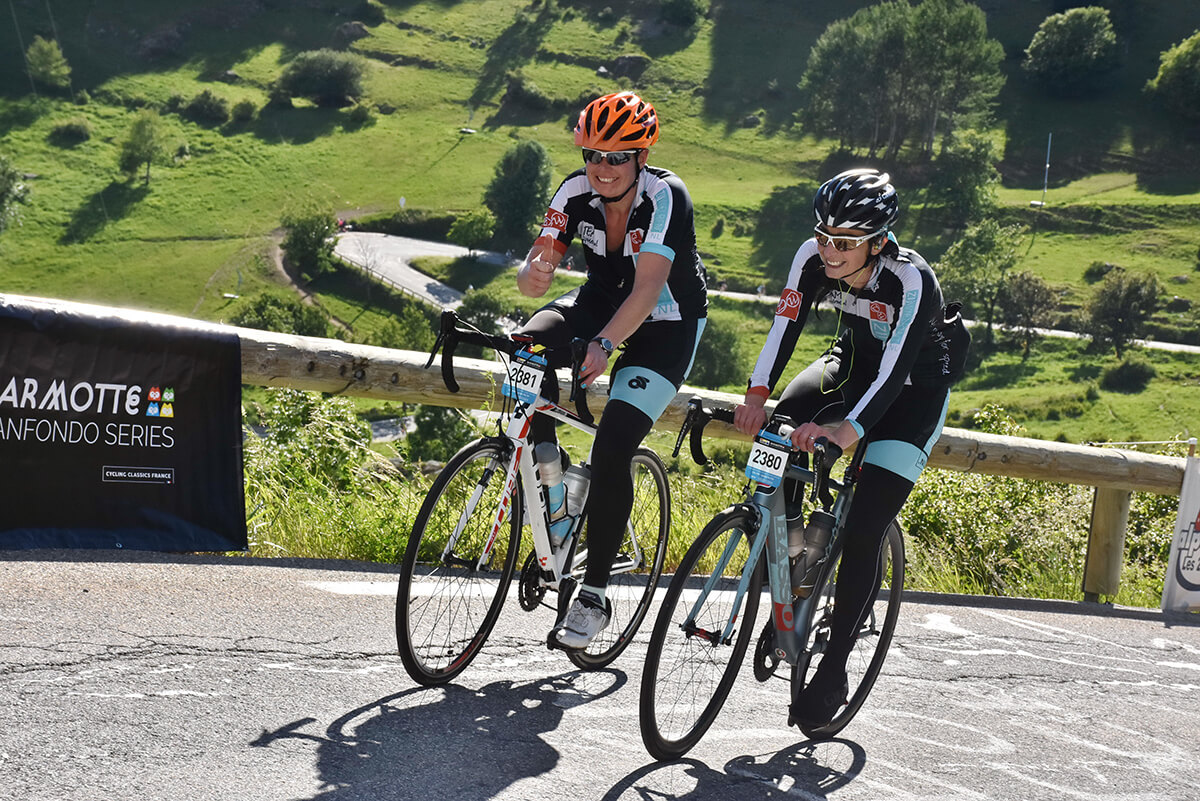 Dames op Alpe d'Huez