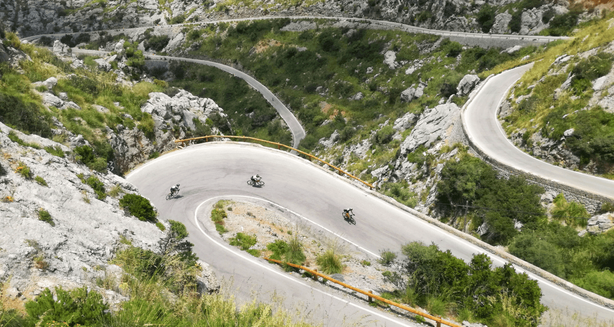 Wielrennen op Sa Calobra, klim op Mallorca