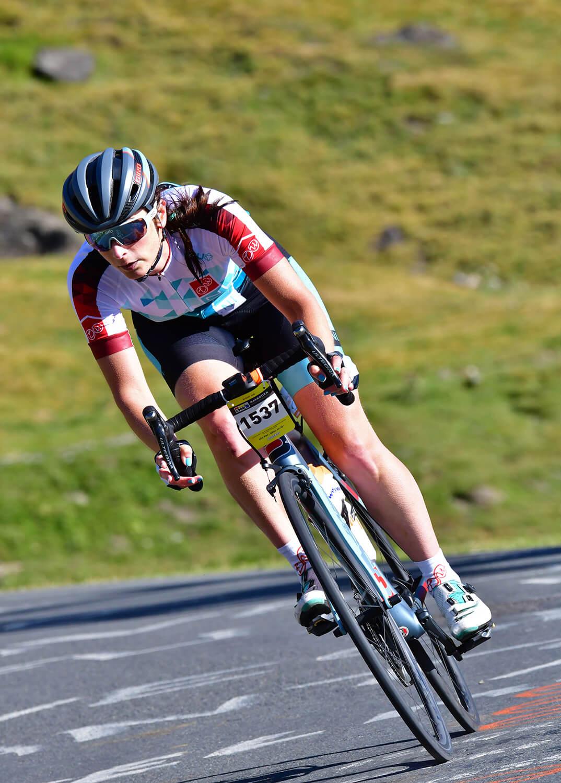 Afdalen op racefiets van Tourmalet